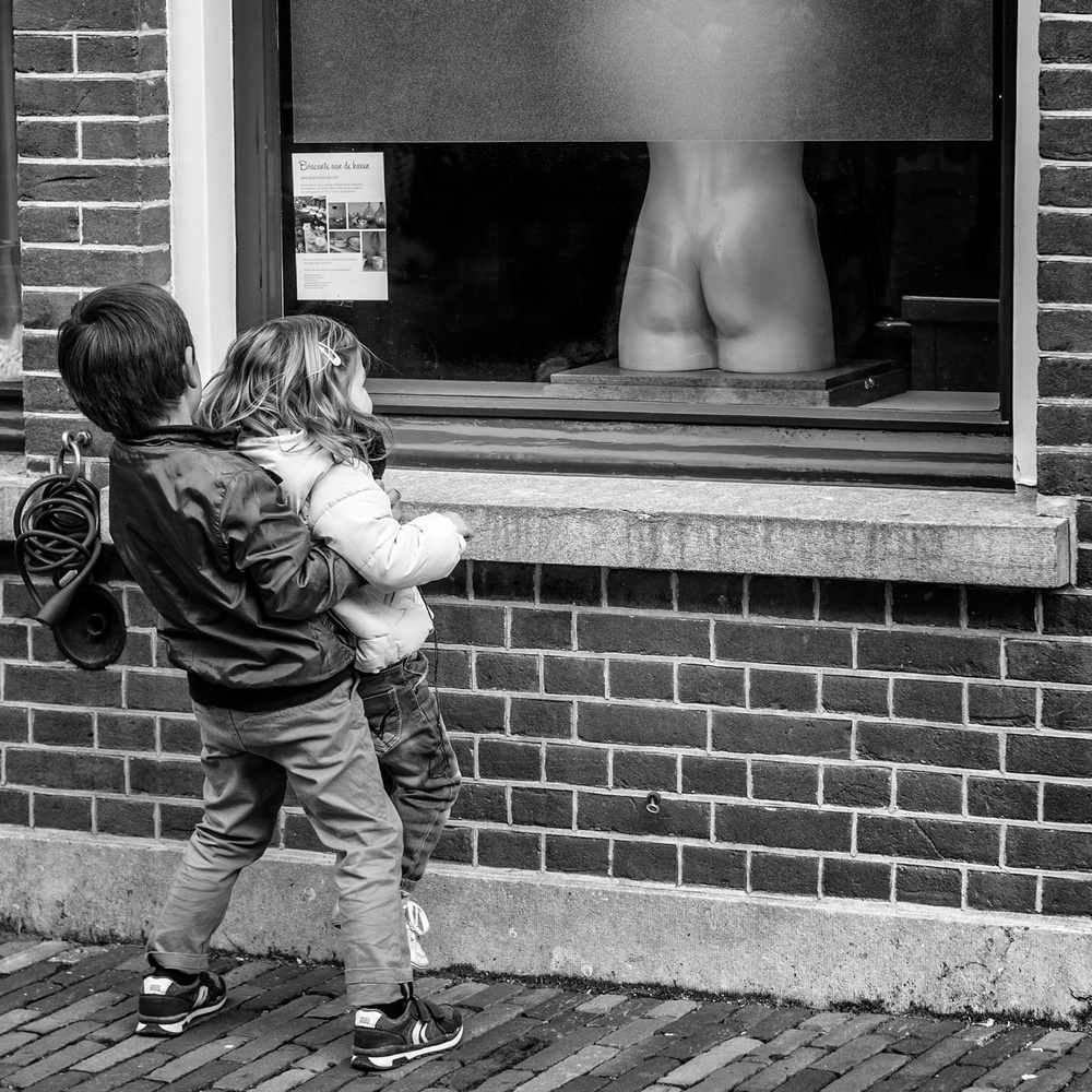 A piece of fine art art photography titled Big Brother Is Helping You Watching by Nico Ouburg