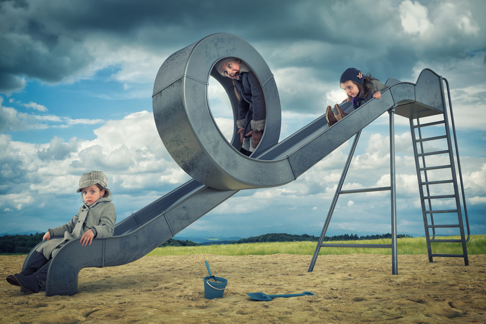 A piece of fine art art photography titled Just a Loop Slide by John Wilhelm