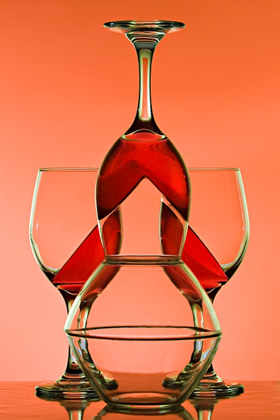 A piece of fine art art photography titled Rondo In Red by Jeffrey Levy