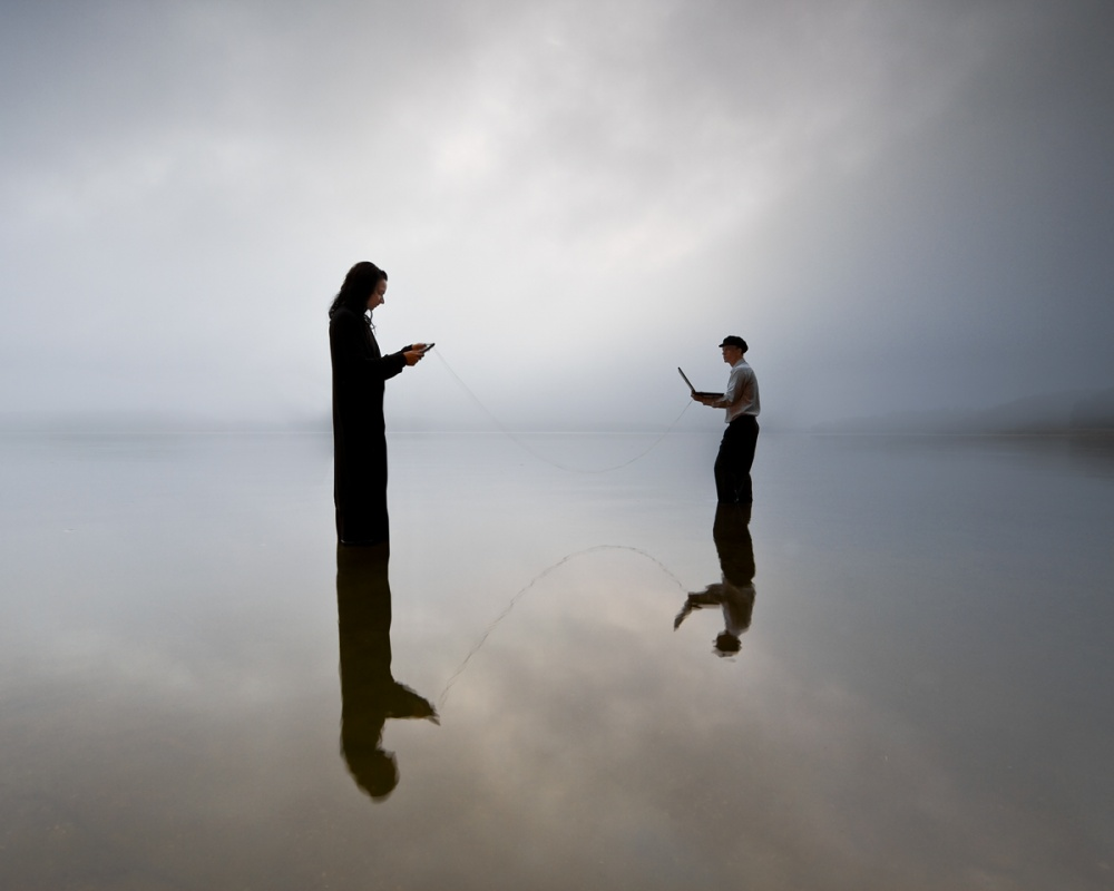 A piece of fine art art photography titled Conversations by Leszek Paradowski