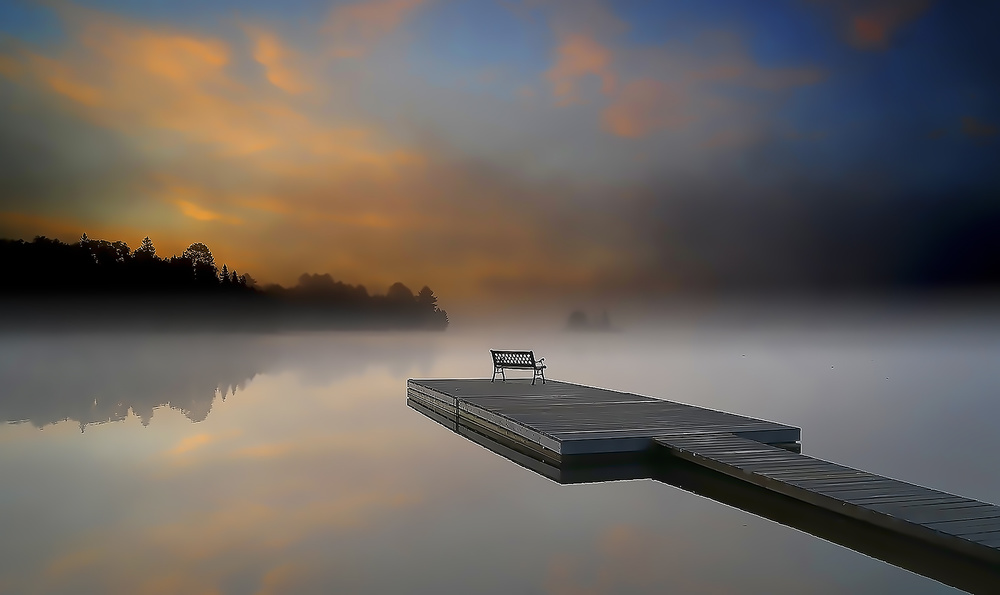 A piece of fine art art photography titled Quiet Morning by larryliu