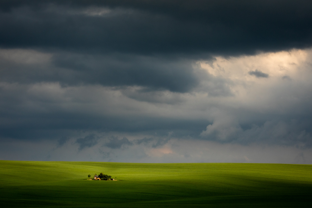 View this piece of fine art photography titled Simple landscape with light by Pawel Uchorczak