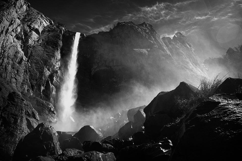 A piece of fine art art photography titled Bridal Veil Falls by Duncan Kerridge