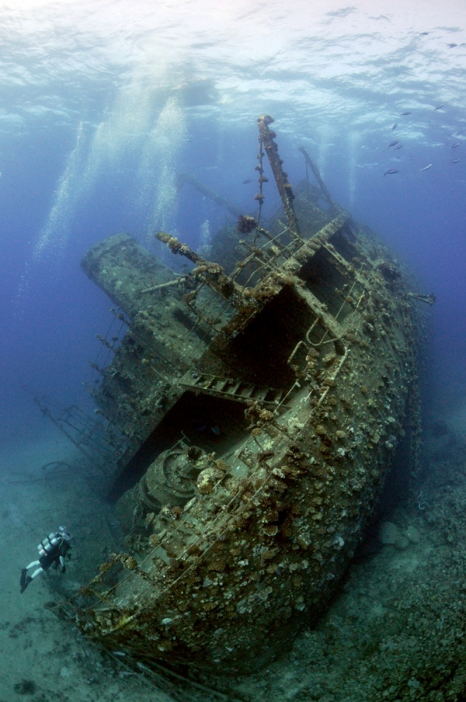 A piece of fine art art photography titled Giannis D Wreck by Dray van Beeck