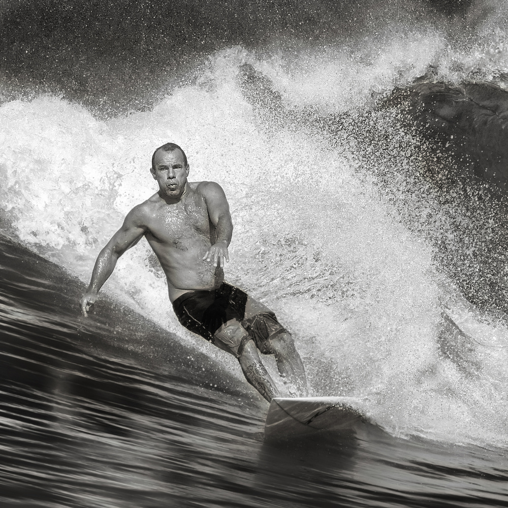 A piece of fine art art photography titled Surf by Handi Nugraha