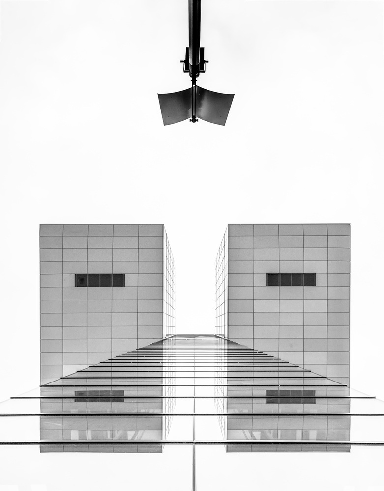 A piece of fine art art photography titled Straight Lines and an Intruder by Jan Rauwerdink
