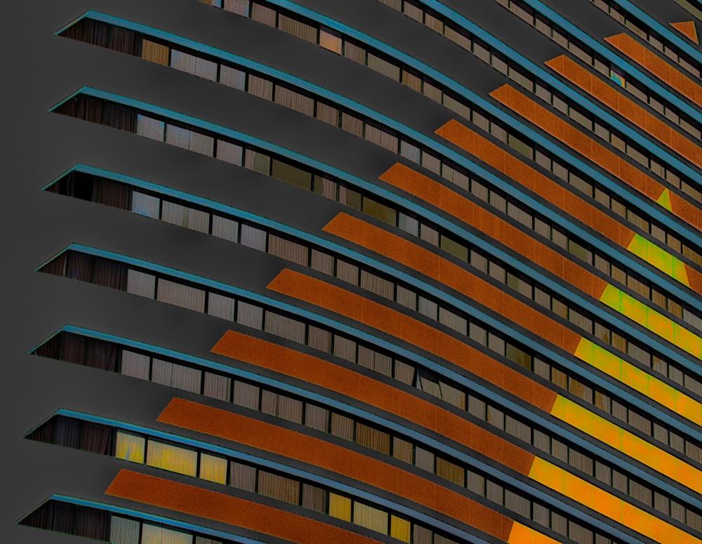 A piece of fine art art photography titled The City Never Sleeps by Harry Verschelden