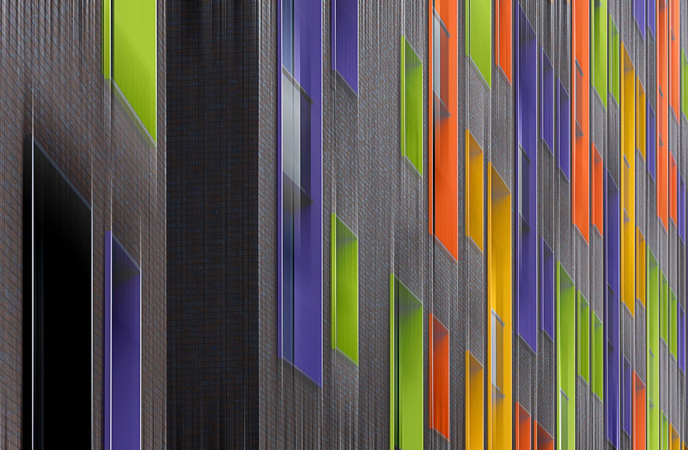 A piece of fine art art photography titled Facade Abstract by Henk van Maastricht