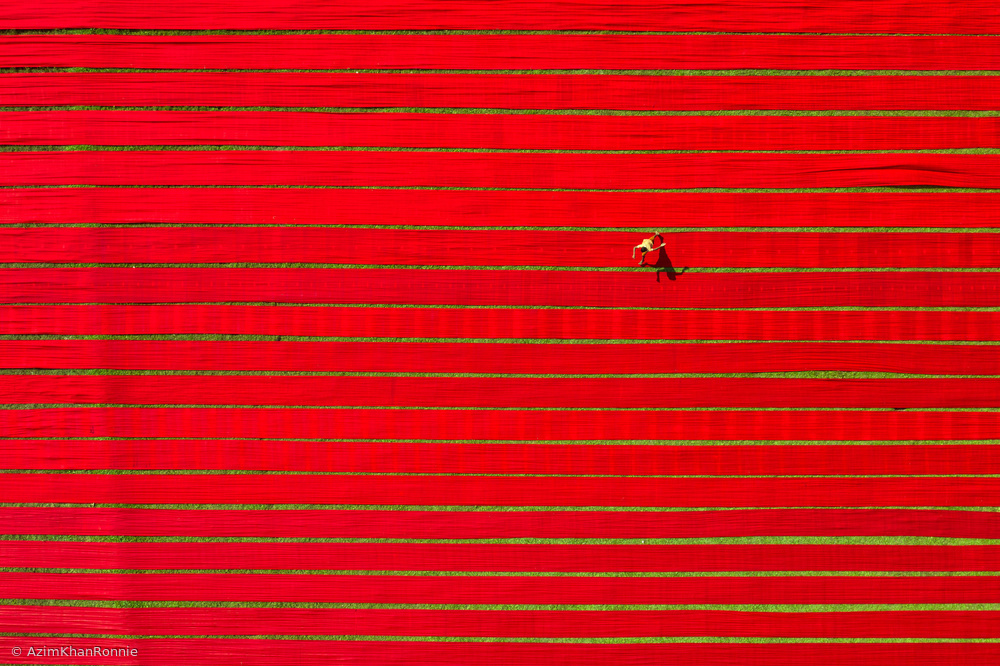 View this piece of fine art photography titled Drying colorful cloth by Azim Khan Ronnie