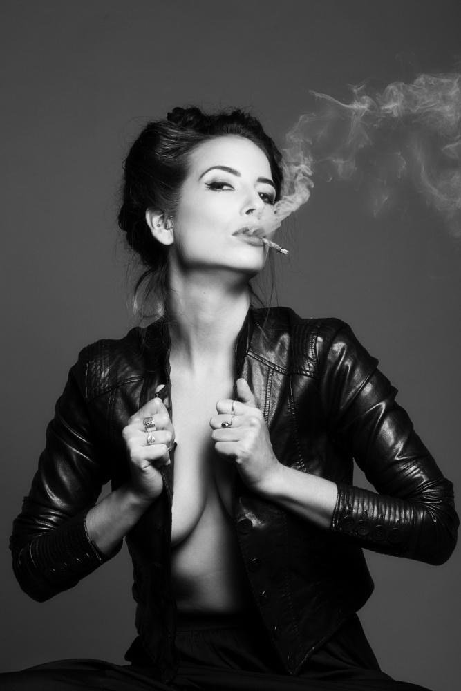 A piece of fine art art photography titled Smoking by Tal Flint