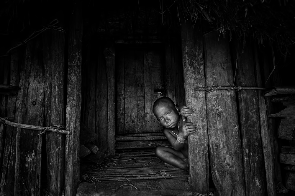 A piece of fine art art photography titled Shy Boy by Gunarto Song