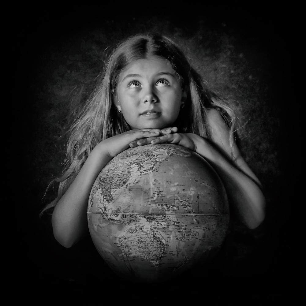 A piece of fine art art photography titled Little Gea by Inna Blar Ross