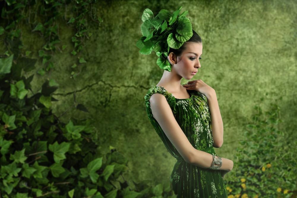 A piece of fine art art photography titled Green by m salim bhayangkara