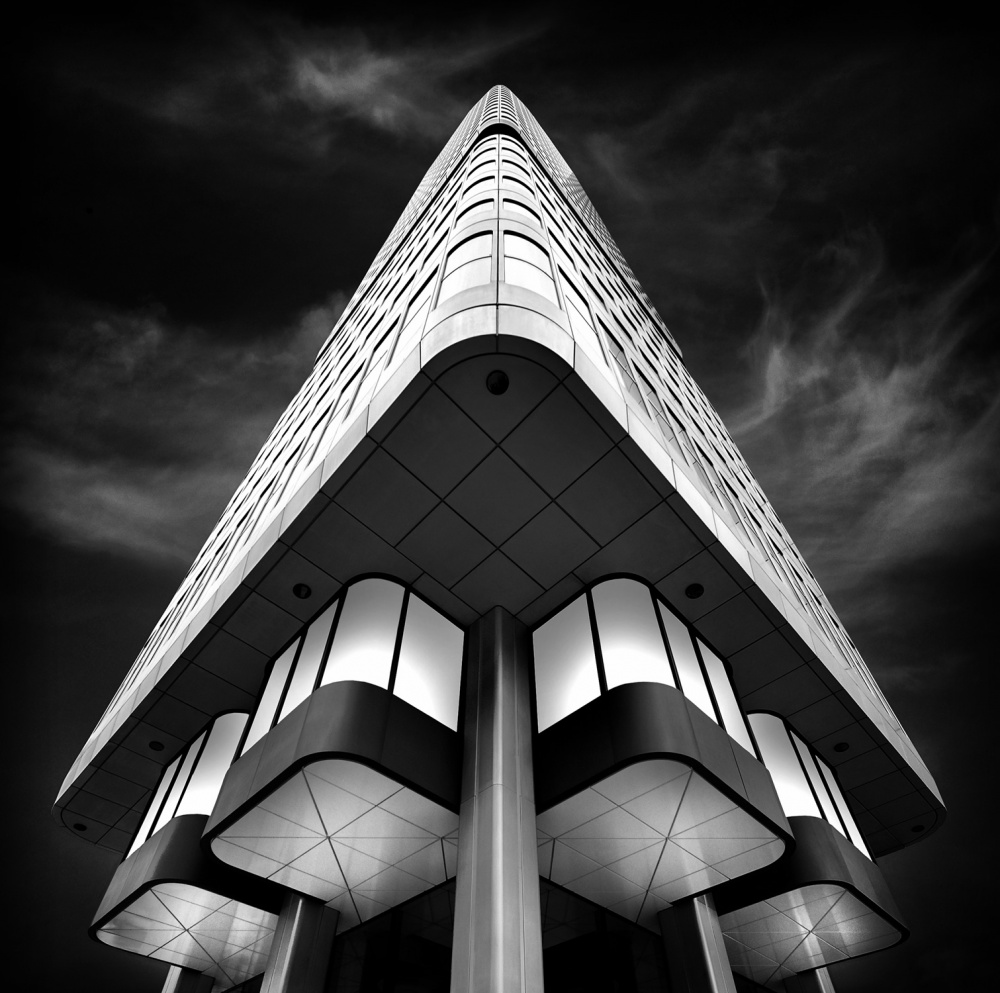 A piece of fine art art photography titled Silver Tower by Wolfgang Mothes