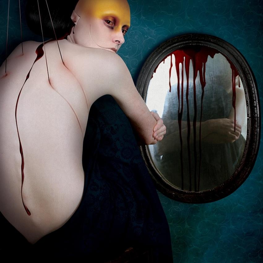 A piece of fine art art photography titled Black Mirror by Karina Marandjian