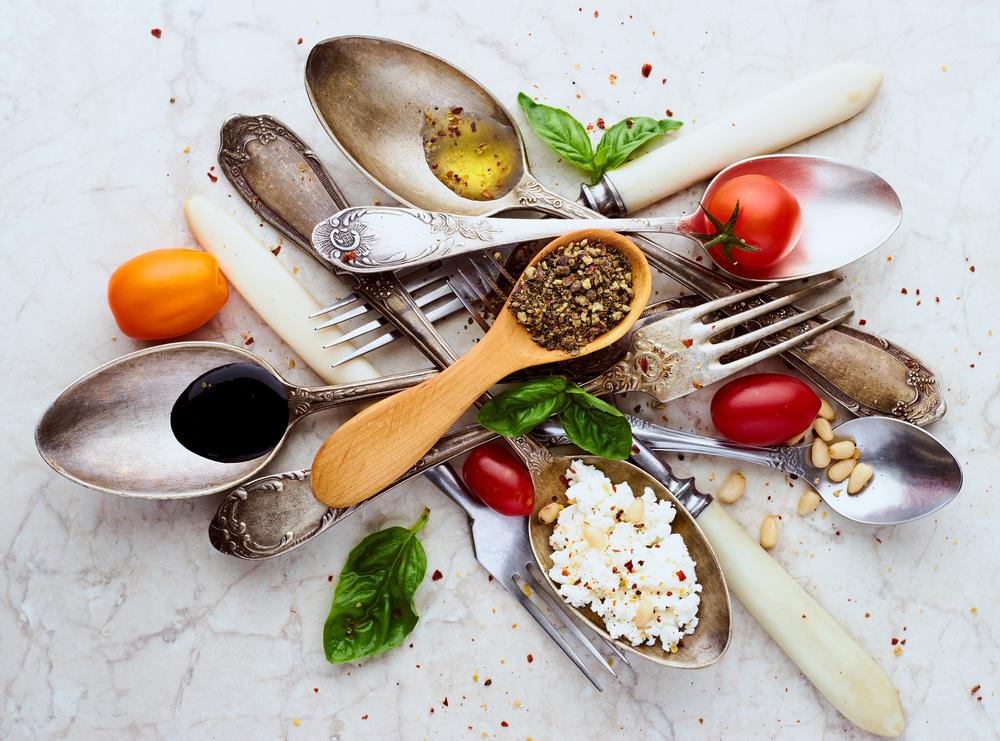 A piece of fine art art photography titled Spoons&Salad by Aleksandrova Karina