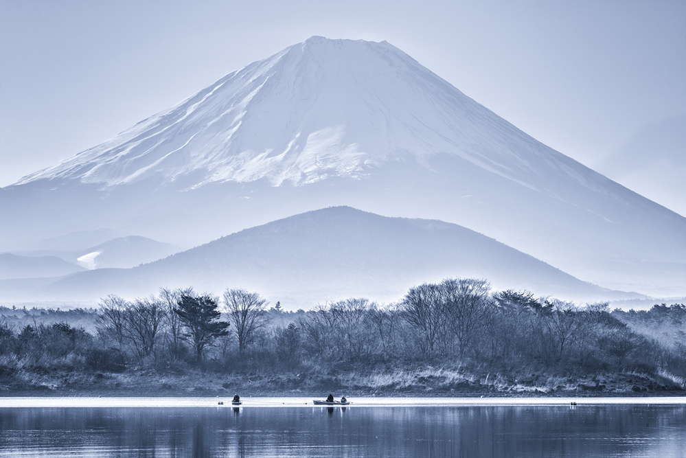 A piece of fine art art photography titled Fishermen Asd the Mountain by Takashi