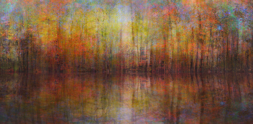 A piece of fine art art photography titled Monet's Autumn by BethAnne Lutz