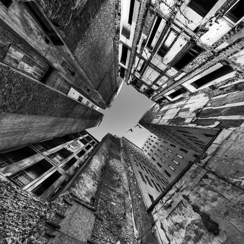A piece of fine art art photography titled Claustrophobia by CSD