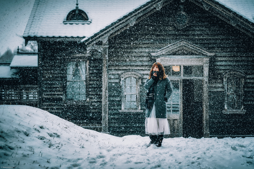 A piece of fine art art photography titled Snow Day by Nobu Ishijima