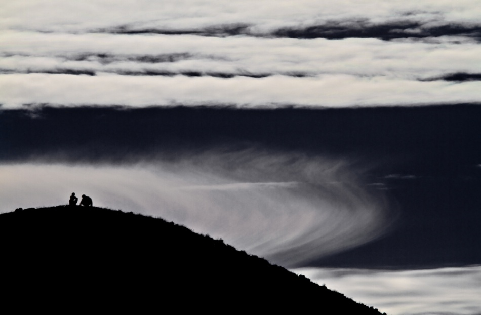 A piece of fine art art photography titled Partly Cloudy by Masoud Mobin Ali