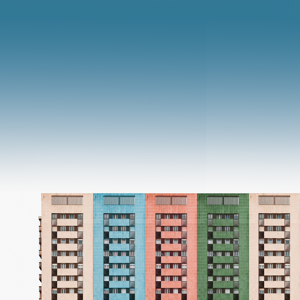 View this piece of fine art photography titled Colored buildings by Inge Schuster