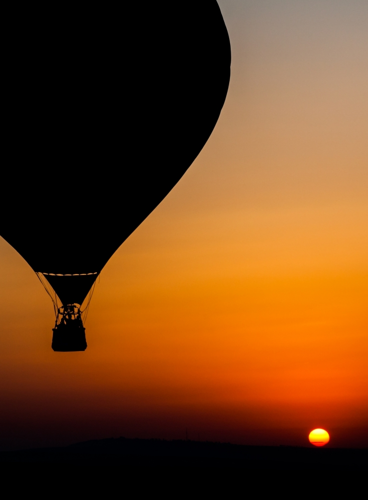 A piece of fine art art photography titled Two Balloons by Tomer Eliash