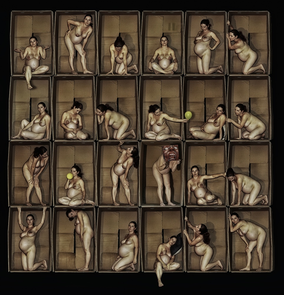 A piece of fine art art photography titled BOXs by eldad pnini