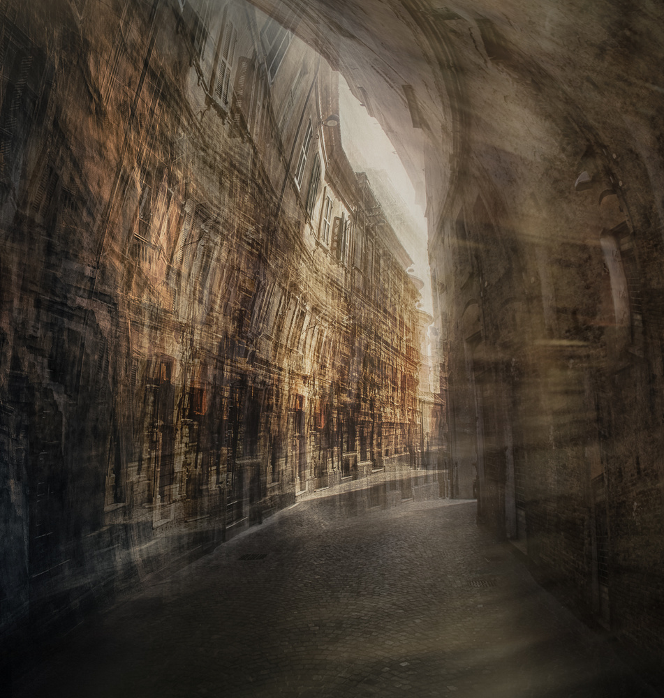 A piece of fine art art photography titled Capture - Abruzzo | Streets of Penne by Carla DLM