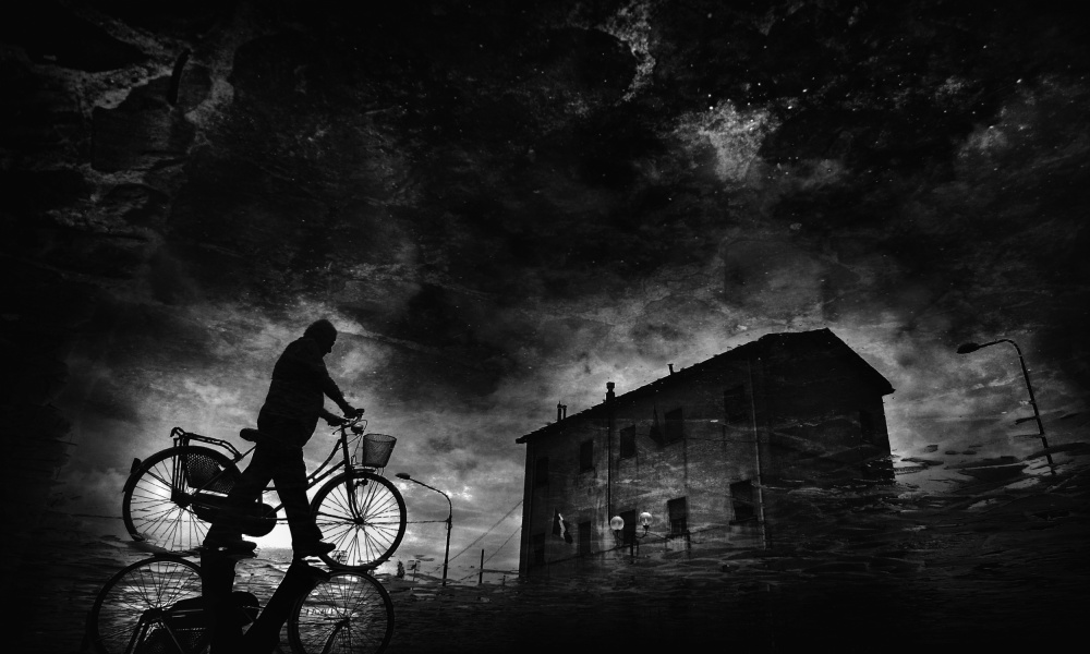 A piece of fine art art photography titled Tired of Pedaling by Antonio Grambone
