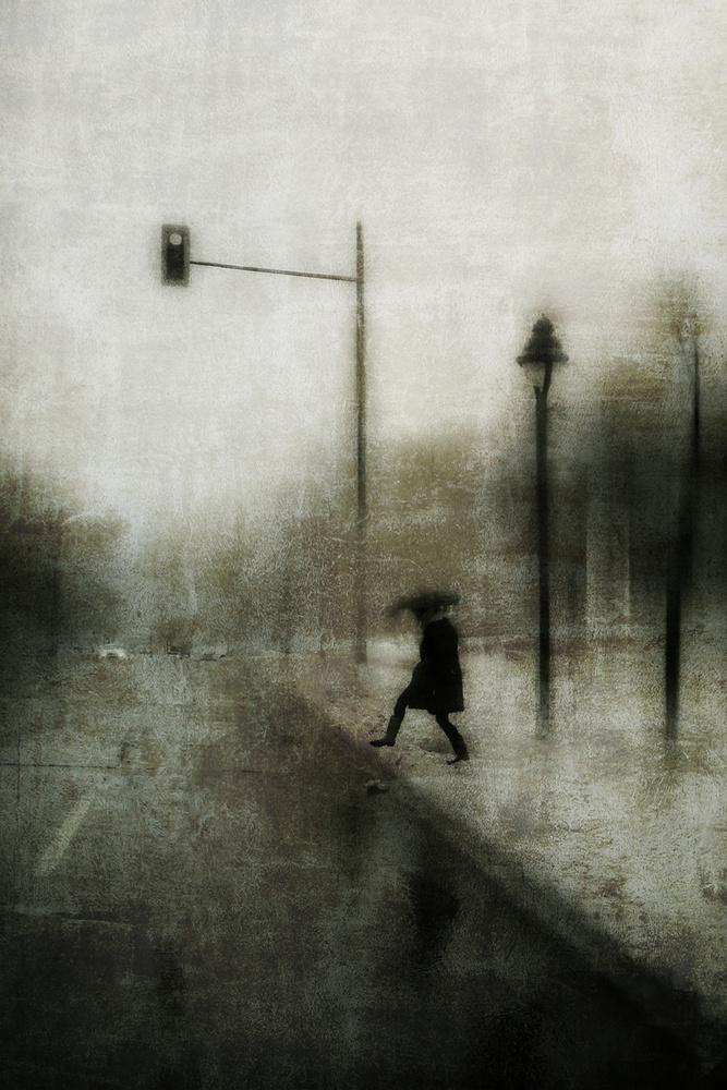 A piece of fine art art photography titled The Broken Umbrella by Daniel Castonguay