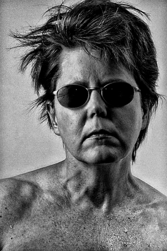 A piece of fine art art photography titled Bad Hair Day, Self-portrait by Ann Powell Groner