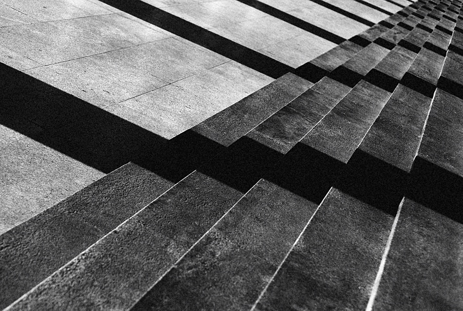 A piece of fine art art photography titled Stairs and Stripes by Fulvio Pellegrini