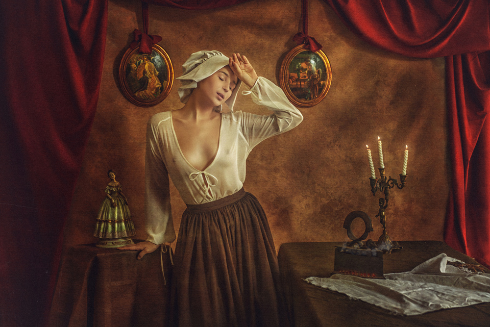 A piece of fine art art photography titled Maria by Evgeny Loza