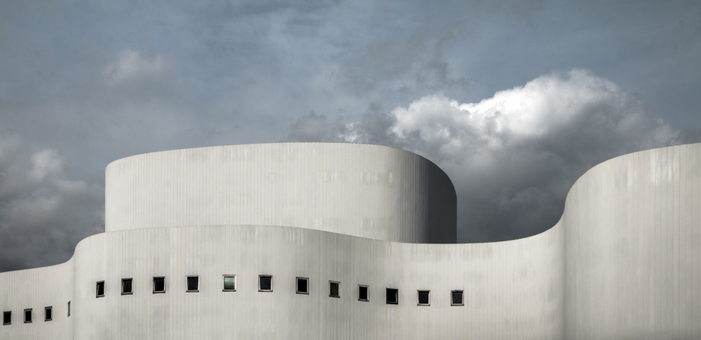 A piece of fine art art photography titled White Theater by Gilbert Claes