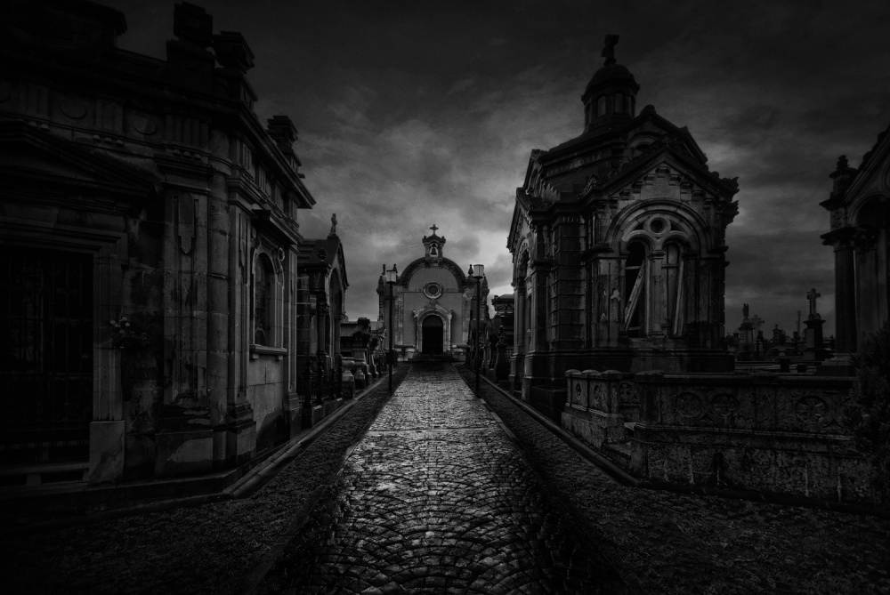 A piece of fine art art photography titled The Cemetery by Jose C. Lobato