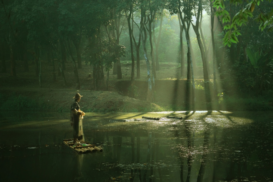 A piece of fine art art photography titled Waiting a Moment by asit