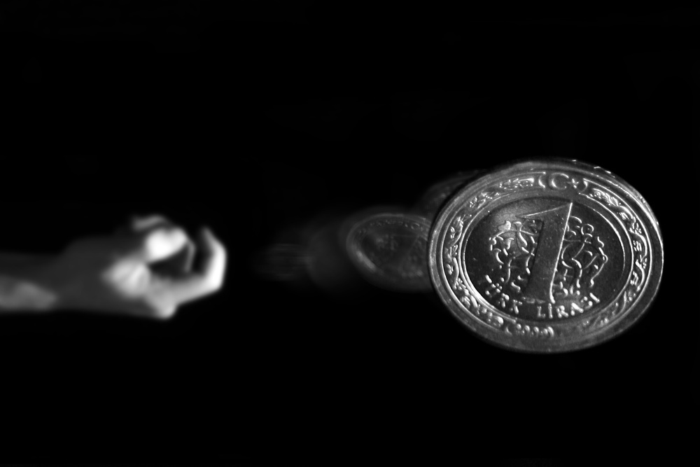 A piece of fine art art photography titled 1 Lira by ahmet orhan