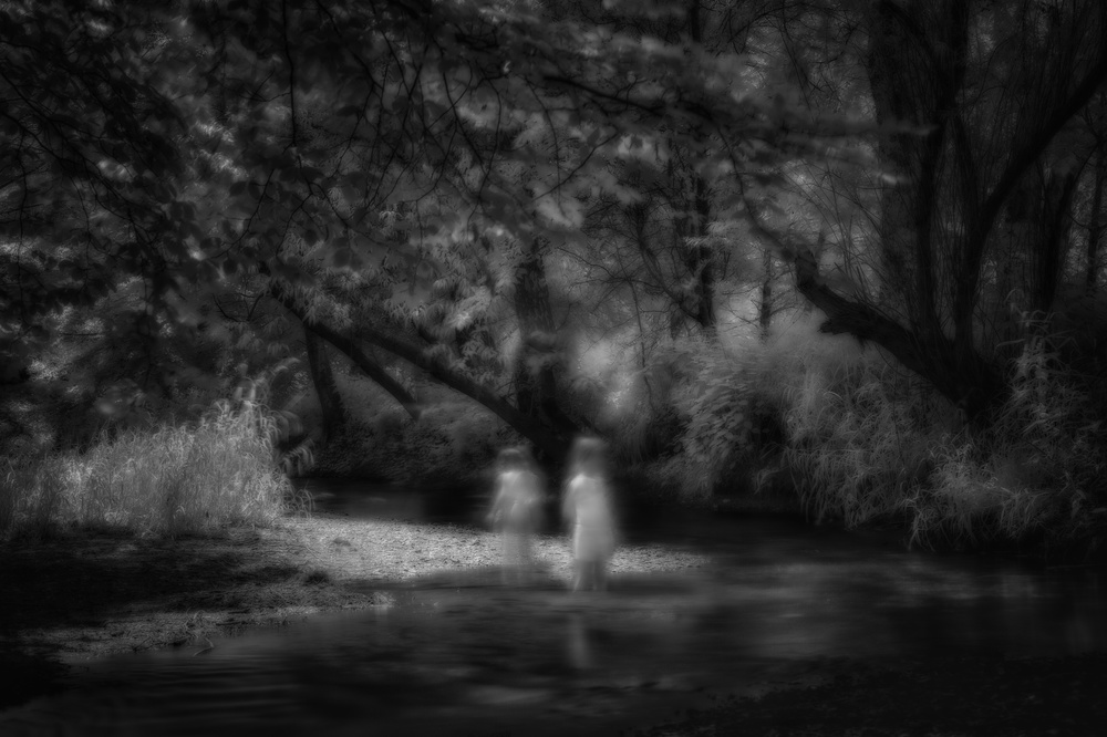 A piece of fine art art photography titled Dont Go by Christoph Hessel
