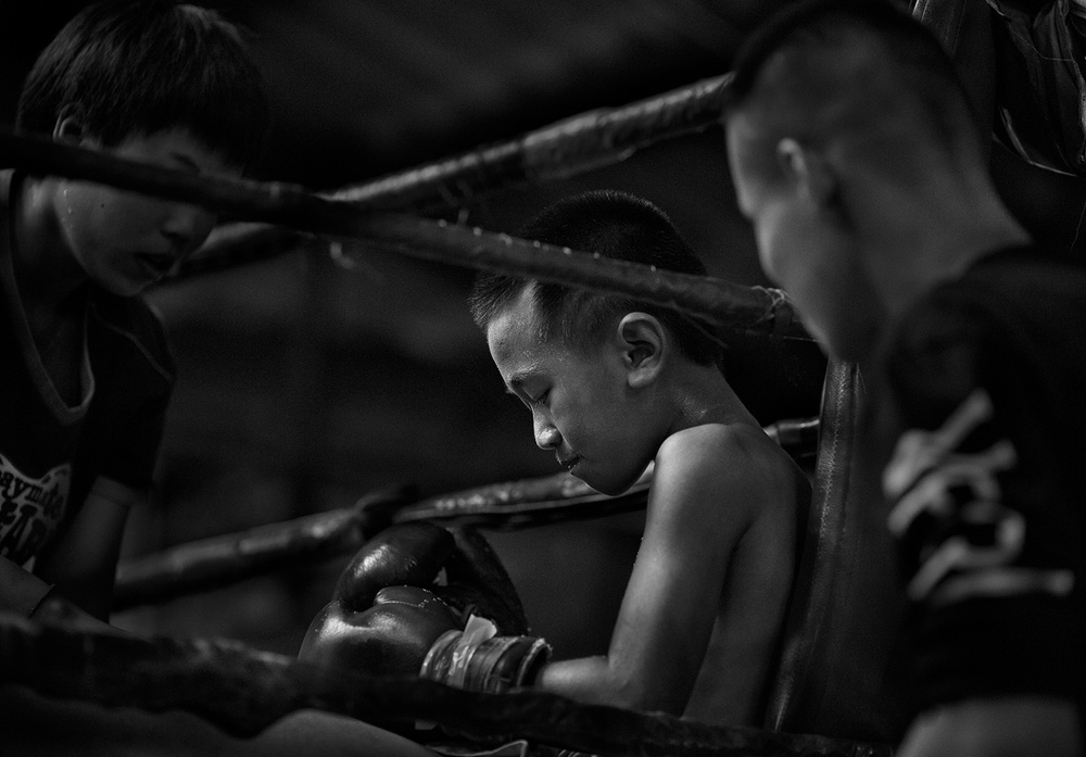 A piece of fine art art photography titled Fight! by Mario Pereira