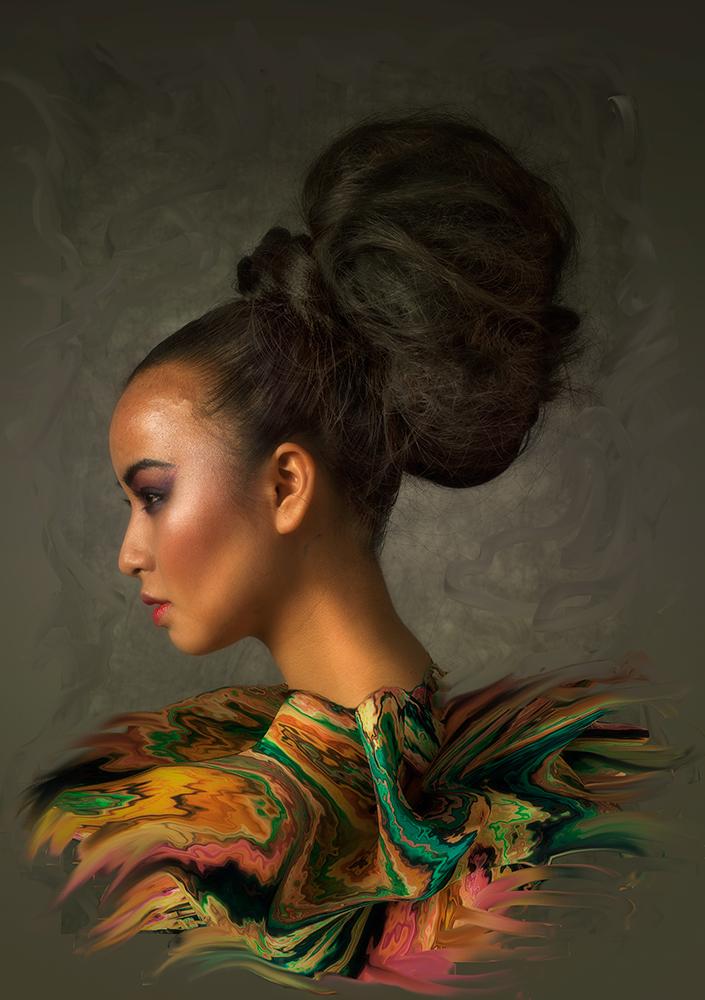 A piece of fine art art photography titled Paiintt by Peter Kemp