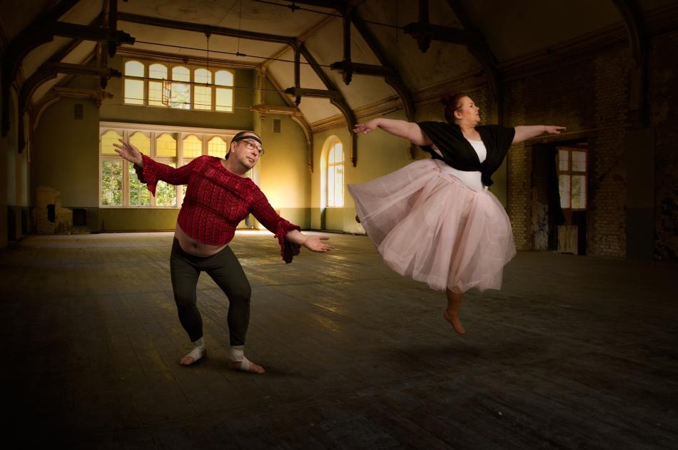 A piece of fine art art photography titled The Ballett-Lesson III by Christine von Diepenbroek