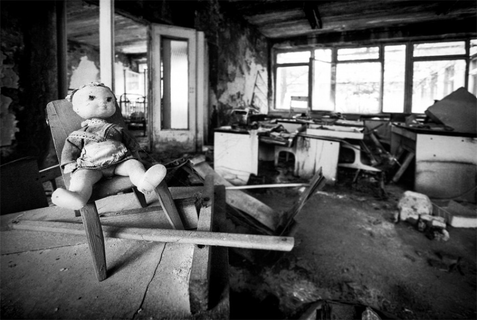 A piece of fine art art photography titled Pripyat - Kindergarten by Poul Noise