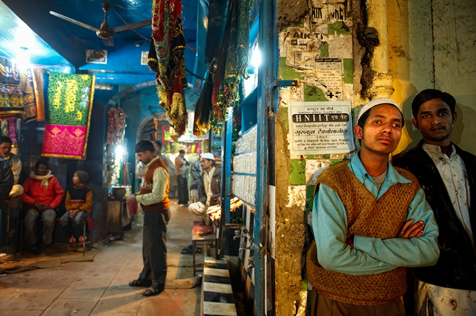 A piece of fine art art photography titled Life In My Alley by Prateek Dubey