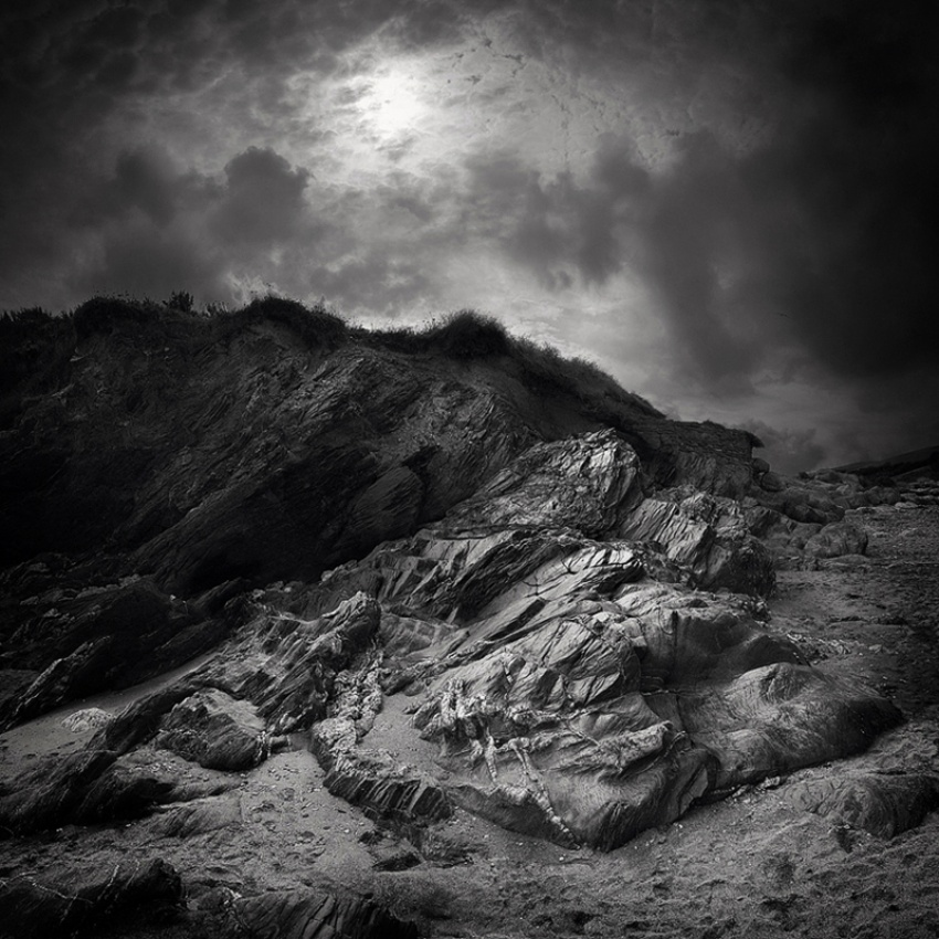 A piece of fine art art photography titled Mansands Slate by Damian Shields