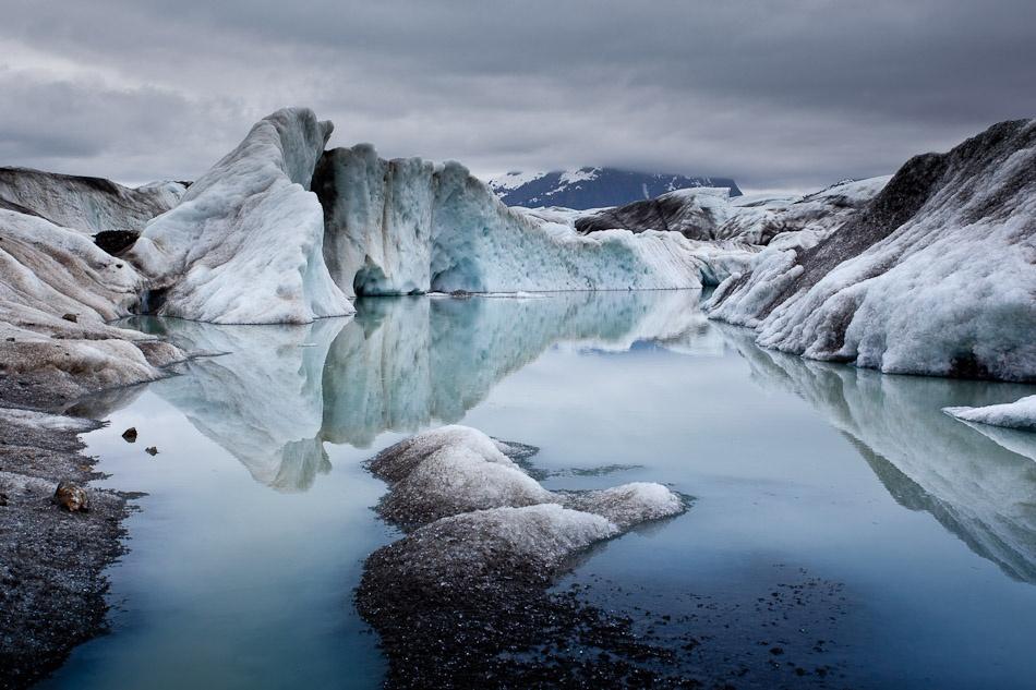 A piece of fine art art photography titled Sheridan Glacier by Adam Elliott