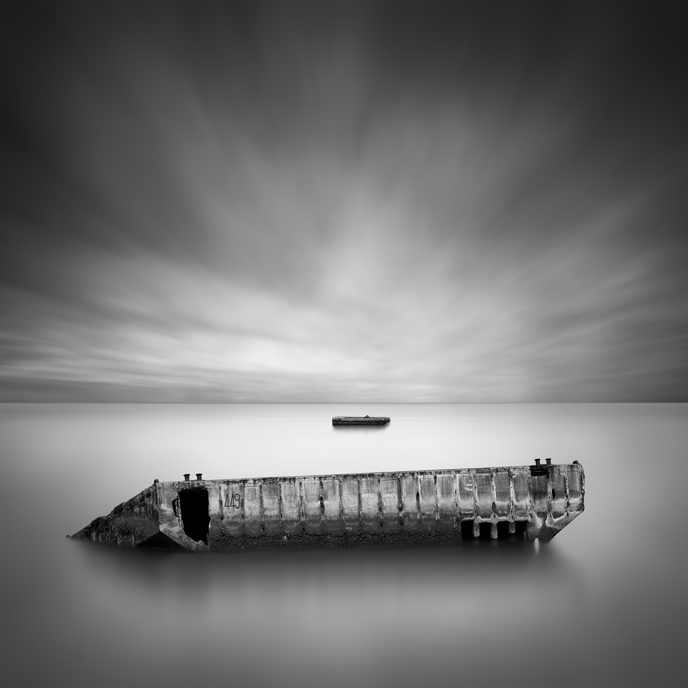 A piece of fine art art photography titled D-Day Beach by George Digalakis