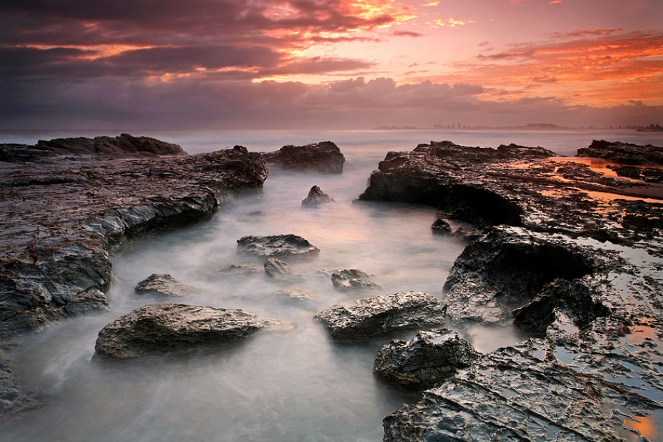 A piece of fine art art photography titled Currumbin Sunrise by Beau Mitchell