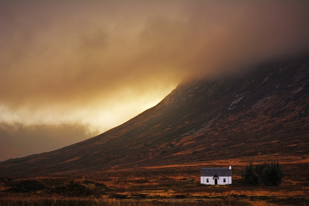 A piece of fine art art photography titled Good Morning Glencoe by Milos Lach