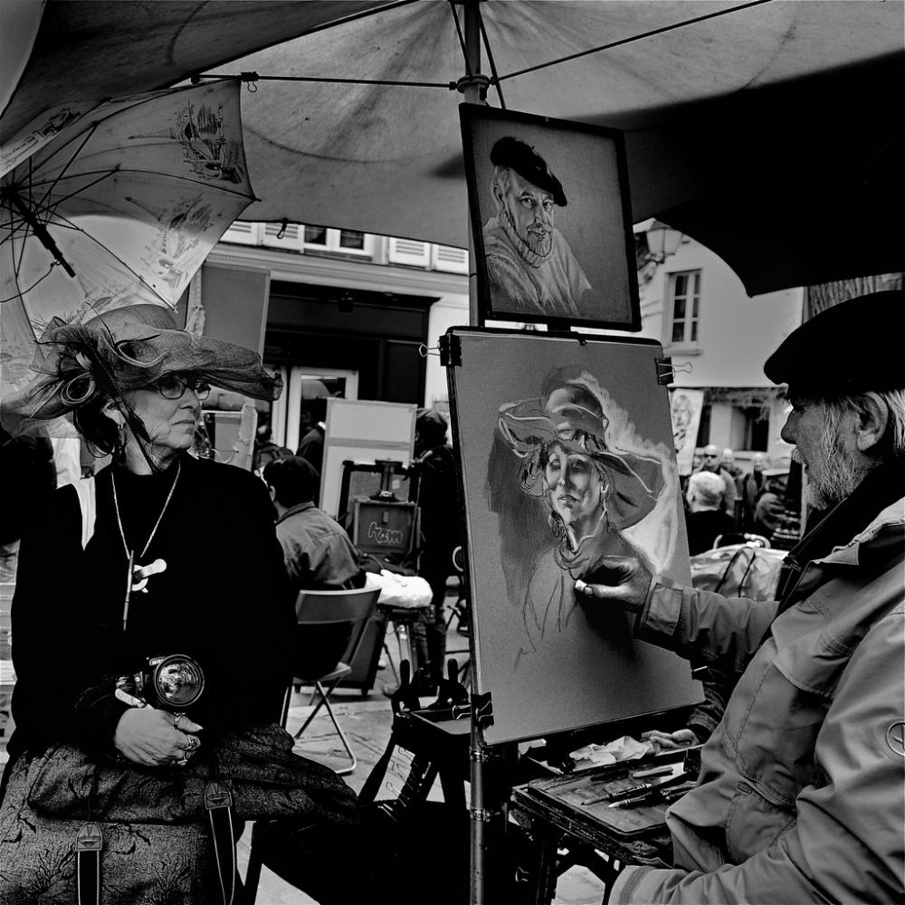 A piece of fine art art photography titled Sunshade & Hat by Didier Guibert
